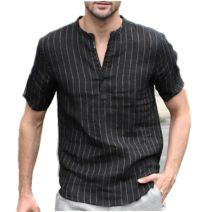 shirt other Others XL,L,M,XXXL,XXL White, black Thin money stand collar Short sleeve Extra wide Other leisure Four seasons stripe