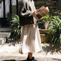 skirt Autumn of 2019 Average size Beige Mid length dress Sweet High waist Pleated skirt Solid color Type A solar system