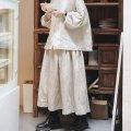 skirt Spring 2021 Average size linen  longuette Sweet High waist Pleated skirt Type A More than 95% hemp solar system