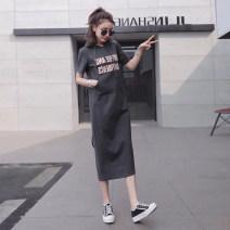 T-shirt Black, gray, pink S,M,L,XL,2XL Summer 2020 Short sleeve Hood easy Medium length routine commute cotton 86% (inclusive) -95% (inclusive) 25-29 years old Korean version originality letter Jango 831# Print, pocket