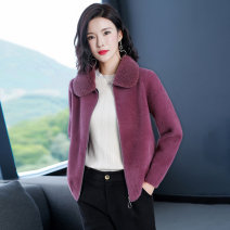 short coat Winter 2020 M L XL XXL Camel skin red blue red Long sleeves have cash less than that is registered in the accounts routine singleton  easy commute routine square neck zipper Solid color Huanjinshan / golden fir 96% and above Pocket zipper HJS20D8507-2Y other Other 100%