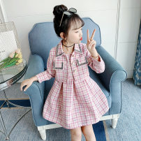 suit Song Flag Pink [regular factory standard size] blue [regular factory standard size] collection and purchase 110cm 120cm 130cm 140cm 150cm 160cm female spring and autumn Korean version Long sleeve + skirt 2 pieces routine There are models in the real shooting Socket nothing other other children