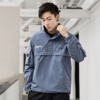 Jacket Other / other other M,L,XL,XXL,XXXL,XXXXL ordinary Loose daily autumn Polyester 100% Long sleeves Wear out stand collar routine Zipper placket raglan sleeve Solid color printing Side seam pocket