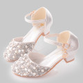 leather shoes female other 322-25 silver, 322-25 pink, 322-23 silver, 322-23 gold, 322-23 Pink spring and autumn Round head Colorful wenniao Ox tendon Buckles rhinestone PU 322-25 princess daily children
