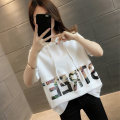 T-shirt Black and white S M L XL Summer 2021 Short sleeve Hood easy Regular routine commute other 96% and above Korean version classic letter Sinapine JS14933HTA500611 printing Other 100% Pure e-commerce (online only)