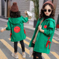 Plain coat Anita female 110cm 120cm 130cm 140cm 150cm 160cm Purple smiley face red peach heart green smiley face purple peach heart spring and autumn Korean version Zipper shirt There are models in the real shooting routine No detachable cap Solid color YNS016 Polyester 100% Class B Spring 2020