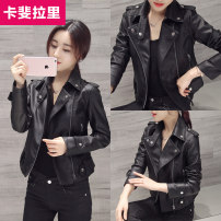 leather clothing Kafaylarry / caffeilari Summer 2016 S M L XL XXL XXXL Black washed leather (without velvet) pink washed leather (without velvet) black with velvet have cash less than that is registered in the accounts Self cultivation zipper routine KFH005 PU Wash skin PU