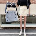 skirt Summer 2021 S,M,L,XL Light blue, black, dark blue, apricot, white Short skirt commute High waist A-line skirt other 18-24 years old 30% and below other Korean version