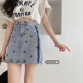 skirt Summer 2021 S,M,L Picture color Short skirt commute High waist Denim skirt other Under 17 30% and below other Other / other other printing Korean version