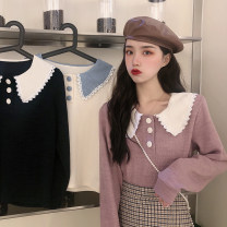 shirt Average size Autumn 2020 other 30% and below Long sleeves Sweet Regular Doll Collar Socket routine Solid color 18-24 years old Straight cylinder college