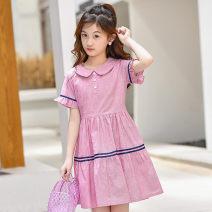 Dress summer Korean version cotton A-line skirt other Class B Summer 2020 female Tide spirit Cotton 100% 9, 10, 11, 12, 13, 14 Short sleeve Zhejiang Province F21673 Hangzhou Chinese Mainland Red blue