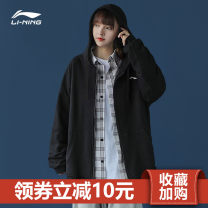 Sports jacket / jacket Ling / Li Ning male 299 AWDK963 Spring of 2019 Hooded zipper Emblems brand logo letter embroidery run Warm, super light, breathable and windproof yes Same model in shopping malls (both online and offline) Including environmental protection materials