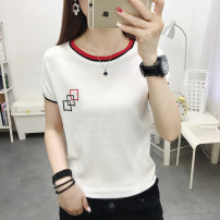 T-shirt White black S M L XL Spring 2021 Short sleeve Crew neck Straight cylinder Regular routine commute other 96% and above 18-24 years old Korean version other Geometric pattern Xunwei Other 100% Pure e-commerce (online only)