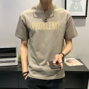 T-shirt Youth fashion thin M L XL 2XL 3XL 4XL First tone Short sleeve Crew neck easy Other leisure summer TX008-2 Cotton 100% routine tide Summer 2021 cotton No iron treatment Pure e-commerce (online only) More than 95%