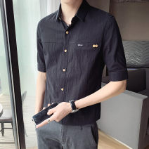 shirt Youth fashion First tone M L XL 2XL 3XL 4XL Thin money Pointed collar (regular) Short sleeve Self cultivation go to work summer CS009-A6 Cotton 100% tide 2021 Summer 2021 No iron treatment cotton Button decoration Pure e-commerce (online only) More than 95%