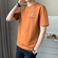 T-shirt Youth fashion 581650 white 581650 black 581650 orange thin 4XL M L XL 2XL 3XL First tone Short sleeve Crew neck easy Other leisure summer Cotton 100% routine tide Summer 2021 cotton No iron treatment Pure e-commerce (online only) More than 95%
