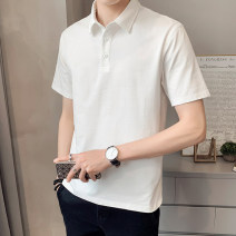 Polo shirt First tone Youth fashion routine 1225 white 1225 orange 1225 black 1225 blue 1225 brick red M L XL 2XL 3XL 4XL Self cultivation Other leisure summer Short sleeve 1225Z tide routine youth Cotton 96.7% polyurethane elastic fiber (spandex) 3.3% other cotton No iron treatment Button decoration