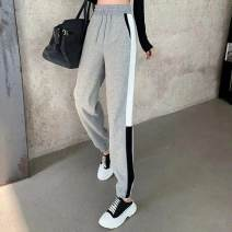 Casual pants 906 # light gray side black and white intermediate, 906 # black side black and white intermediate S suggests 85-100kg, m 101-110kg, l 110-125kg, XL 120-135kg, 2XL 135-145kg Summer 2021 trousers Haren pants High waist Other styles 30% and below
