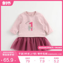 Dress female Marc&Janie 73/18M 80/24M 90/3T 100/4T 110/5T 120/6T 130/8T Cotton 100% spring and autumn Europe and America Long sleeves other cotton Splicing style Class A Autumn of 2019 12 months 18 months 2 years 3 years 5 years 6 years