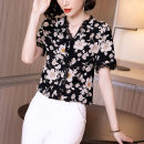 Lace / Chiffon Summer 2020 black M L XL XXL Short sleeve commute Socket singleton  Straight cylinder Regular Decor 35-39 years old Finz  D201170-1 Ol style Polyester 100% Pure e-commerce (online only)