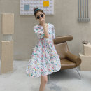 Dress Summer 2021 Broken flowers S M L Mid length dress singleton  Short sleeve commute Doll Collar Loose waist Broken flowers Socket other puff sleeve Others 18-24 years old Type H Shfanny / Savannah Korean version B2110361C More than 95% other cotton Cotton 100% Pure e-commerce (online only)