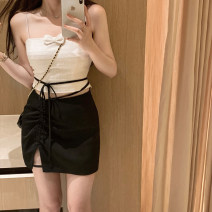 skirt Spring 2021 XS,S,M Light apricot, black star DQD1001 31% (inclusive) - 50% (inclusive)