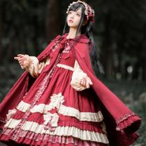 Fashion suit Winter 2020 S. M, l, average size Dress, headband, Cape (98cm), dress + headband, dress + Cape, dress + headband + Cape, Second Edition dress 18-25 years old Bear sauce