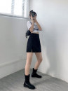 skirt Autumn 2020 M,L,XL,2XL,3XL black Short skirt commute High waist A-line skirt Solid color Type A 18-24 years old 30% and below Other / other