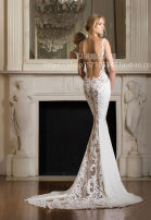 Dress / evening wear Wedding, adulthood, party, company annual meeting, performance Custom size sexy longuette middle-waisted Spring 2017 fish tail One shoulder 26-35 years old Sleeveless flower Solid color other Non handmade flower
