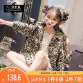 Plain coat QMD / chimedi female 110cm 120cm 130cm 140cm 150cm 160cm Leopard Print spring and autumn Korean version Single breasted There are models in the real shooting routine nothing Leopard Print other other 19-33650 Other 100% Class B Autumn of 2019