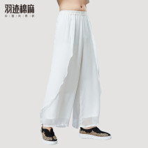 Casual pants Mafan cloth clothes Youth fashion L,XL thin Ninth pants Other leisure Straight cylinder No bullet summer middle age Chinese style 2019 middle-waisted Straight cylinder Cotton 90% other 10% Sports pants other washing Solid color other cotton cotton Domestic famous brands More than 95%