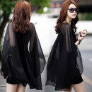 Dress Summer of 2019 Black, white [T-shirt 905] S [high quality fabric], m [high quality fabric], l [high quality fabric], XL [high quality fabric], XXL [high quality fabric], XXXL [high quality fabric] Short skirt Fake two pieces commute Crew neck High waist Solid color Socket One pace skirt Others