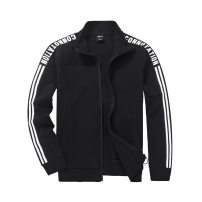 Sweater Youth fashion Others black S,M,L,XL,2XL,4XL Solid color Cardigan routine stand collar autumn Slim fit leisure time teenagers Youthful vigor routine Y9330 blending Cotton 60% polyester 34% polyurethane elastic fiber (spandex) 6% polyester fiber other other Zipper bag outdoors zipper