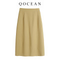 skirt Summer 2020 S. M, l, XL, the number of yards is a little small, please check with the customer service Mid length dress commute High waist skirt Type A Ol style