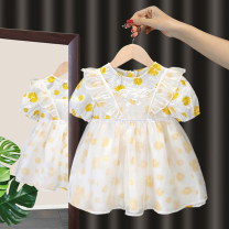 Dress yellow female Dada warwa 80cm 90cm 100cm 110cm 120cm Other 100% summer princess Short sleeve Broken flowers other Cake skirt other Summer 2021 3 months 12 months 6 months 9 months 18 months 2 years 3 years 4 years 5 years 6 years