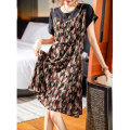 Dress Summer 2021 Decor M,L,XL,2XL,3XL,4XL,5XL Mid length dress Fake two pieces Short sleeve commute Crew neck Loose waist Decor Socket other routine Others 25-29 years old Type A Clothing music Korean version 31% (inclusive) - 50% (inclusive) other polyester fiber