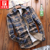 shirt Youth fashion Jeep shield M L XL 2XL 3XL 4XL thick square neck Long sleeves easy Other leisure spring youth Cotton 100% tide 2021 lattice Plaid Autumn of 2018 washing cotton Pure e-commerce (online only) More than 95%