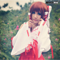 Cosplay women's wear suit goods in stock Over 14 years old comic L,M,S,XL All over the world Japan Lovely wind Oriental project Reimu Hakurei  Burley dream Witch Dress