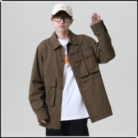 shirt Youth fashion FAIRWHALE SHAKE / Hua Fei · Type case M,L,XL,2XL,3XL Black, army green routine Button collar Long sleeves standard Other leisure summer