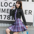 skirt Spring 2020 S,XL,XS,L,M,XXL Girl's flat angle tie, girl's long handle tie, girl's no tie, 43 skirt length, same short sleeve longuette Sweet Pleated skirt lattice 18-24 years old other other Fold, print