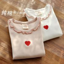T-shirt White, beige The future Suitable for height 95-105cm (sign 110), suitable for height 105-115cm (sign 120), suitable for height 115-125cm (sign 130), suitable for height 125-135cm (sign 140), suitable for height 135-145cm (sign 150) female spring and autumn Long sleeves Crew neck No model