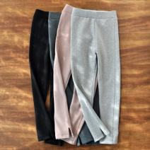 trousers The future female Light gray, dark gray, smart black, Beituo spring and autumn trousers leisure time Leggings Leather belt middle-waisted cotton Don't open the crotch Cotton 95% polyurethane elastic fiber (spandex) 5% Class B 2, 3, 4, 5, 6, 7, 8, 9, 10, 11, 12, 13, 14 years old