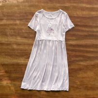 Home skirt / Nightgown Other / other Viscose fiber (viscose fiber) 95% polyurethane elastic fiber (spandex) 5% Purple, purple rabbit summer female 2, 3, 11-13, 4, 13, 5, 6, 7, 8, 9, 10, 3-5, 11, 5-7, 12, 7-9, 13, 14, 9-11 Keep warm, eliminate dampness and sweat, stay at home Class A