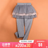 trousers Other / other female Suitable for height 105-115cm (sign 110), suitable for height 115-125cm (sign 120), suitable for height 125-135cm (sign 130), suitable for height 135-145cm (sign 140), suitable for height 145-150cm (sign 150) Grey, pink spring and autumn trousers leisure time No model