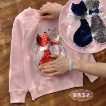 Sweater / sweater Other / other Cat - pink, cat - white, unicorn - pink, spotted cat - pink, ice queen - blue, ice queen - pink, love - black, sunflower - purple, sunflower - white, football night - white female spring and autumn nothing leisure time Socket routine No model cotton Cartoon animation