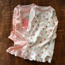 Home skirt / Nightgown Other / other Cotton 100% White strawberry, pink spring and autumn female 2, 3, 11-13, 4, 13, 5, 6, 7, 8, 9, 10, 3-5, 11, 5-7, 12, 7-9, 13, 14, 9-11 Keep warm, eliminate dampness and sweat, stay at home Class A Pure cotton (100% cotton content)