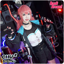Cosplay women's wear suit Customized Over 14 years old Women's Pearl hand Animation, games S. M, l, XL, customized CGCOS Japan BanG Dream! Zhushouzhiyou cg815lhy female