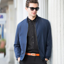 Jacket Other / other Business gentleman Blue, red, red 1, blue 2 XL,L,M,XXL,XXXL routine Self cultivation motion autumn JK89 Long sleeves Wear out No collar Business Casual middle age Ordinary (50cm < length ≤ 65cm) Zipper placket 2019 Straight hem No iron treatment Regular sleeve Solid color cotton
