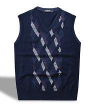 Vest / vest Business gentleman Others 165/100(S),170/105(M),175/110(L) 6m07075-89 Tibetan blue, 6m07075-98 black go to work standard Woolen vest routine V-neck youth 6M07075 lattice Socket wool More than 95%