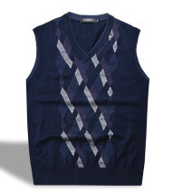 Vest / vest Business gentleman Others 165/100(S),170/105(M),175/110(L) 6m07075-89 Tibetan blue, 6m07075-98 black go to work standard Woolen vest routine V-neck youth 6M07075 lattice Socket wool More than 95%